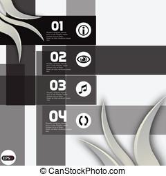 Infographic template design - Origi