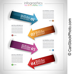 Infographic template design - Original geometrics