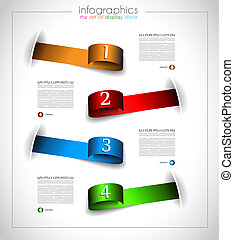 Infographic template design - Original geometrics