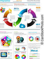 Infographic template design - Original geometrics -...