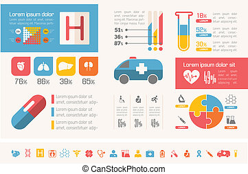 infographic, template., emergencia