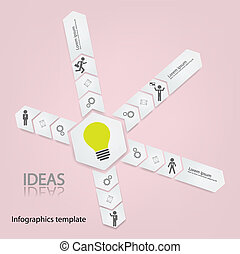 infographic template - Modern Design Minimal style...