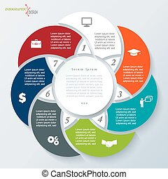 Infographic template for business project or presentation
