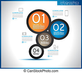 Infographic template for statistic data visualization
