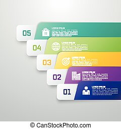 Infographic template from Colourful strips