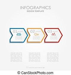 infographic, template., kan, vara, använd, för, workflow,...