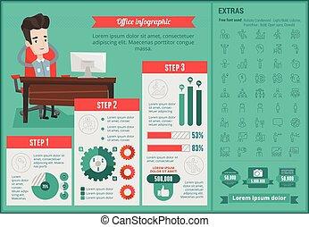 infographic, template., kantoor