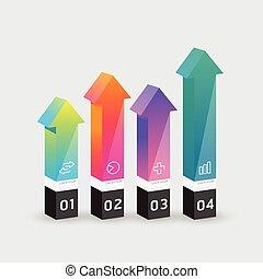 infographic template Modern arrow box Design Minimal style