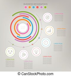 Infographic template of colorful circle