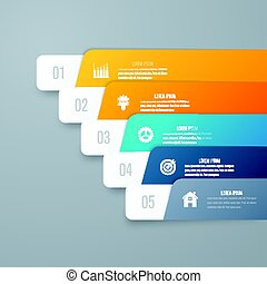 Infographic template of square elements