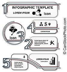 Infographic template. set elements