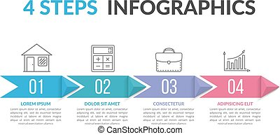 Infographic Template with Arrows