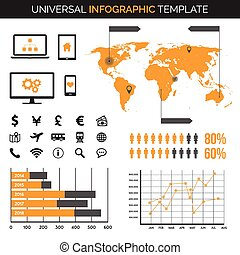 Infographic template with charts