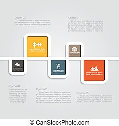 Infographic template with elements and icons. Vector illustration