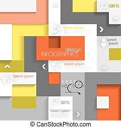 Infographic Template With Place For Your Content. Vector Illustration. Eps 10.