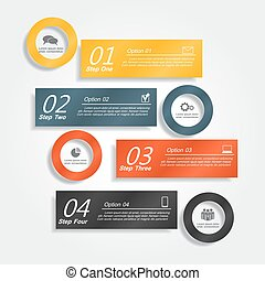 Infographic template with place for your data. Vector illustration.