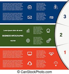 infographic template with text areas on three positions -...