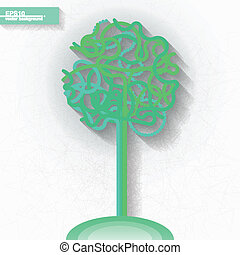 Infographic template with tree