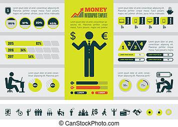 infographic, template., zakelijk