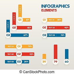 Infographic Templates for Business Vector Illustration with Flat colors