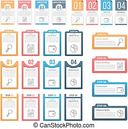 Infographic Templates with Numbers and Text