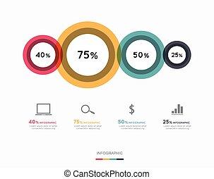 infographic, terv, modern ügy