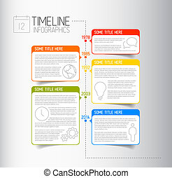 infographic, timeline, informe, plantilla, con, descriptivo,...
