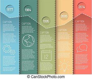 infographic, timeline, relatório, modelo