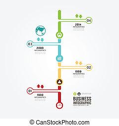 infographic, timeline, vettore, disegno, template.