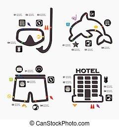 infographic, tourisme