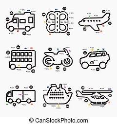 infographic, transporte