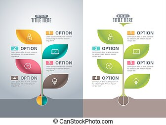 Infographic tree design concept. vector illustration.