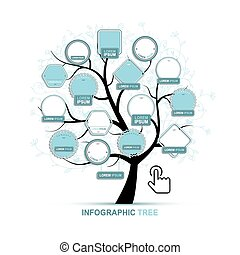 Infographic tree, template for your design