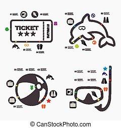 infographic, turismo