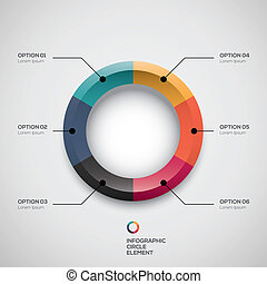 Infographic ui styled business pie chart and vector options