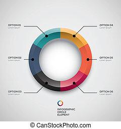 infographic, ui, torta, negócio, denominado