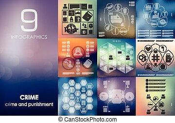 infographic, unfocused, fundo, crime