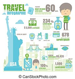 infographic USA. on white background