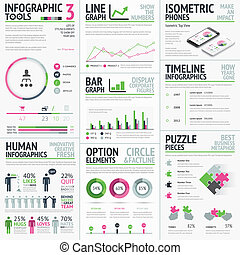 infographic, vecteur, éléments