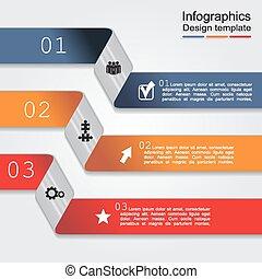infographic, vecteur, conception, template., illustration