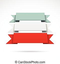 infographic, vecteur, rubans, coloré, 3d