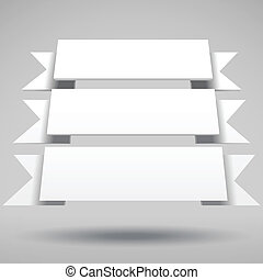 Infographic vector 3D white ribbons
