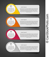 infographic, vector, empresa / negocio, plantilla, ...
