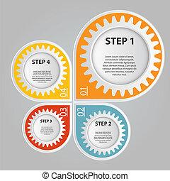 infographic, vector, zakelijk, mal, illustratie
