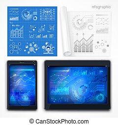 infographic, vektor, illustration., elements.
