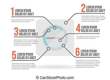infographic, vektor, pirula, ábra