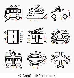 infographic, vervoeren