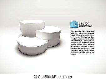 infographic, vetorial, 3d, pedestal