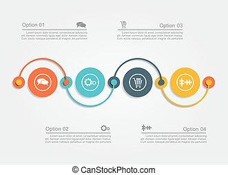 infographic, vetorial, desenho, template., illustration.