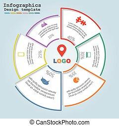 infographic, vetorial, desenho, template.